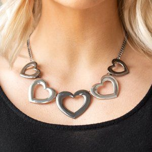 NWT Hearty Hearts multi metal heart necklace set
